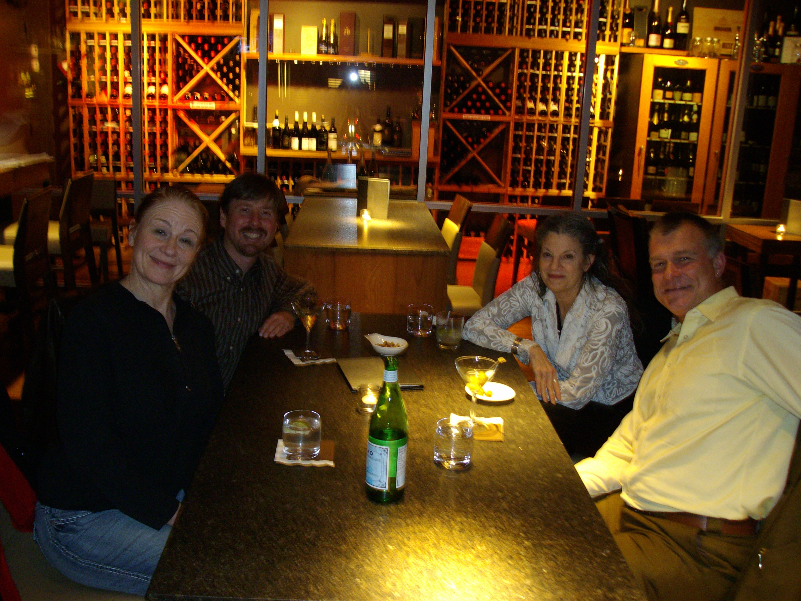 Left to Right: Anna Smith, Will Pritchard, Laura Agustin and Andy Sorfleet at Yew lounge at the Four Seasons, downtown Vancouver