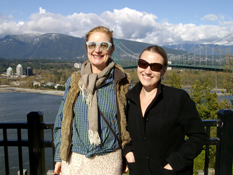 Anna Smith and Rachel Wotton at Prospect Point, April 14, 2013.